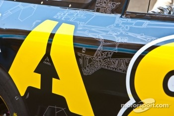 Military artwork on the car of Brian Simo, Whitney Motorsports ARMA Energy Ford