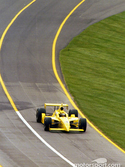 Sam Hornish Jr. exits the pits