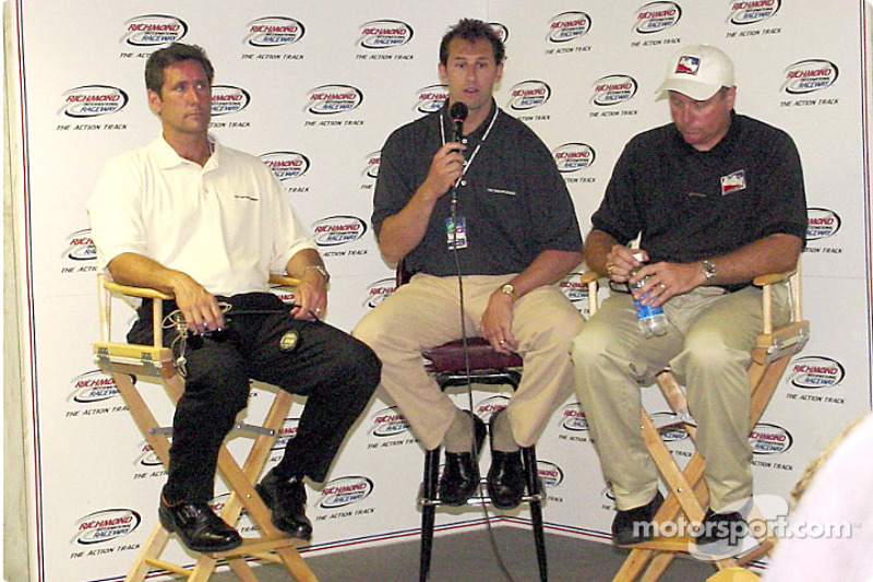 Press  conference with Tony George announcing the 2002 race schedule