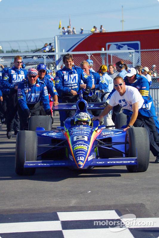 Race winner Jaques Lazier