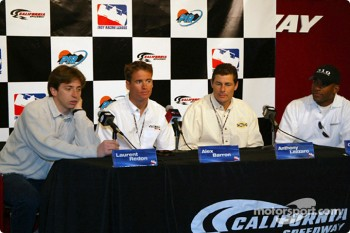 Laurent Redon , Alex Barron, Anthony Lazzaro and George Mack during the media day press conference