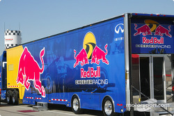 Red Bull Cheever Racing transporter