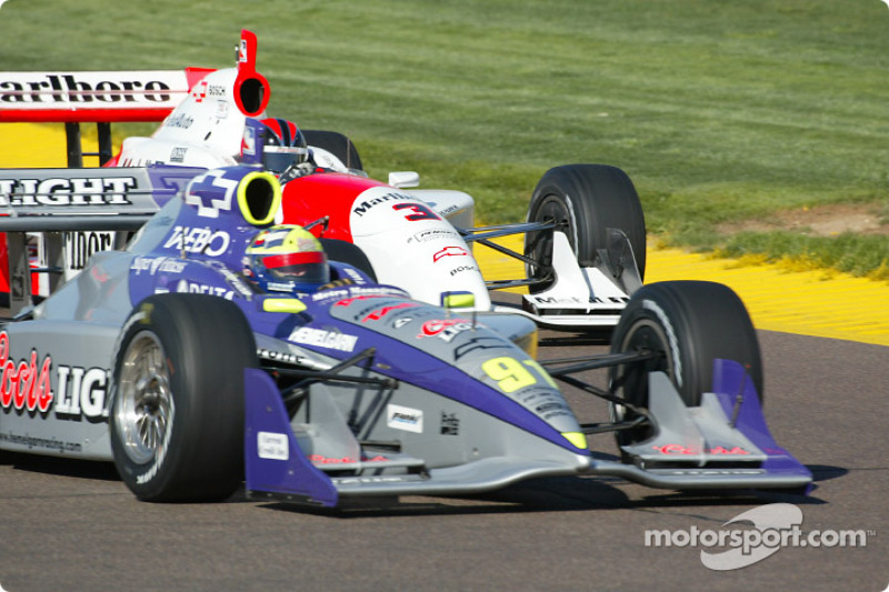 Buddy Lazier and Helio Castroneves