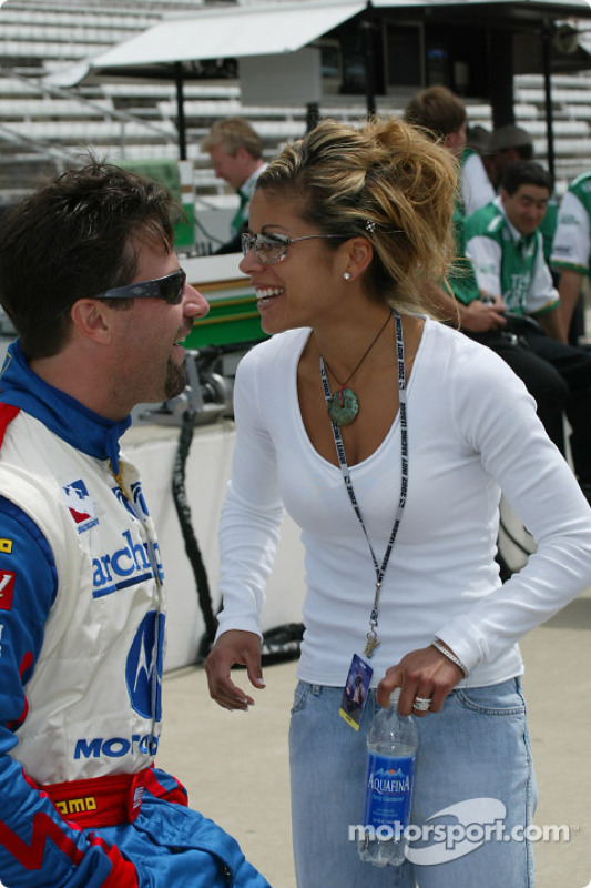 Michael Andretti and wife Leslie at Indy 500