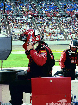 Al Unser Jr. after engine failure