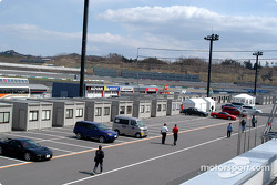 Twin Ring Motegi garage area