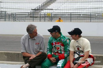 Eddie Cheever, Tony Kanaan and Dan Wheldon