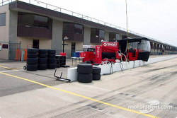 Ganassi Racing test pit box