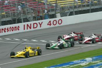 Sam Hornish Jr., Tony Kanaan, Tomas Scheckter and Scott Dixon