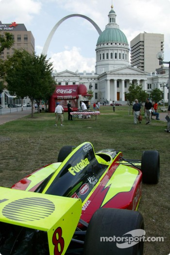 Kelley Racing car on display in St. Louis