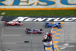 Buddy Rice, Kenny Brack and Tomas Scheckter