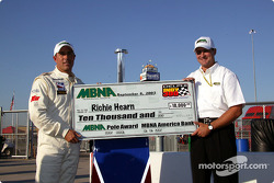 Richie Hearn receives MBNA Pole winner check