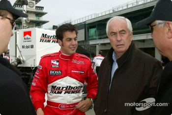 Sam Hornish Jr. and his new boss, Roger Penske