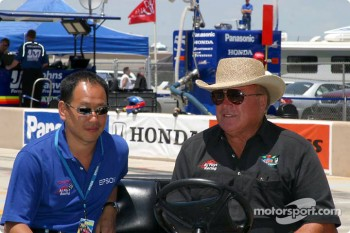 Shigeakki Hattori and A.J. Foyt