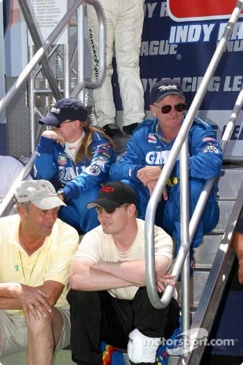 Sarah Fisher and Buddy Lazier