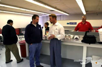 Journalist Bruce Martin talks with Access Motorsports driver-owner Greg Ray