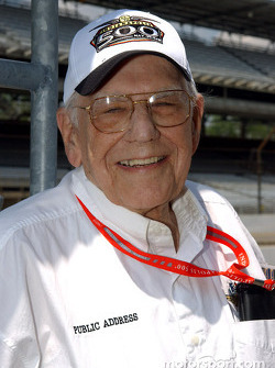 Indianapolis Motor Speedway address announcer Tom Carnegie