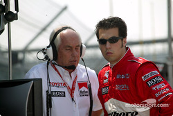 Roger Penske and Sam Hornish Jr.