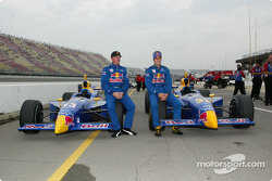 The front row: pole winner Tomas Scheckter and Buddy Rice