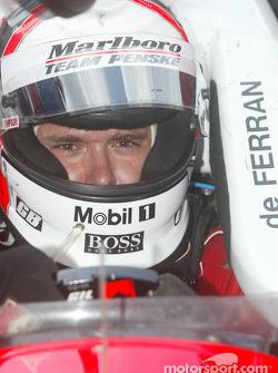 Race winner Gil de Ferran