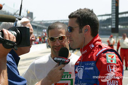 Tony Kanaan and Dario Franchitti talk with ESPN sports