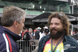 Two champions: Indy 500 winner Eddie Cheever with Survivor All-Star Rupert Boneham
