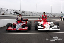 Front row for the SunTrust Indy Challenge: pole winner Helio Castroneves with Buddy Rice