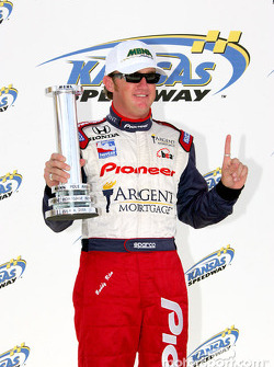 Buddy Rice with MBNA pole award