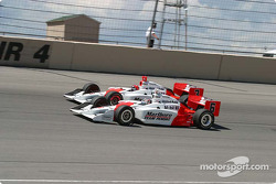 Team Penske, Helio Castroneves and Sam Hornish Jr.