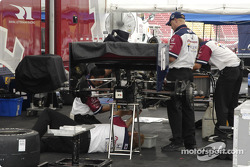 Work area for #15 Rahal-Letterman Racing