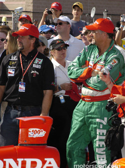 Michael Andretti and Kim Green in winners circle