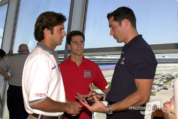 Christian Fittipaldi, Bruno Junqueira and Max Papis