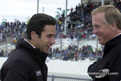 Helio Castroneves, still laughing after his victory at Indy