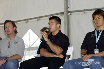 Jimmy Vasser, Oriol Servia and Shinji Nakano