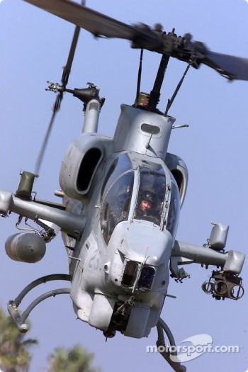 Patrick Carpentier got a thrill of a lifetime  as he took part in a training mission aboard a AH-1W Cobra helicopter at Camp Pendleton, a Marine Corps base located outside San Diego