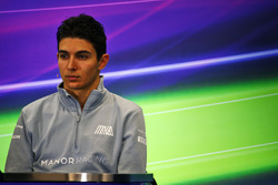 Esteban Ocon, Manor Racing in the FIA Press Conference