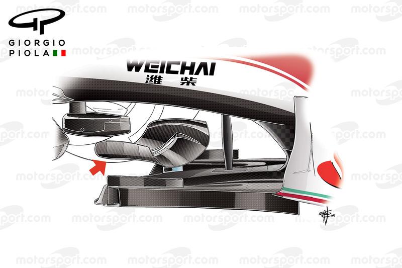 Ferrari SF16-H: Chassis-Winglet, GP Mexiko