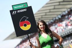 Gridgirl für Nico Rosberg, Mercedes AMG F1