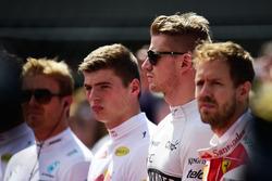 Nico Hulkenberg, Sahara Force India F1 as the grid observes the national anthem