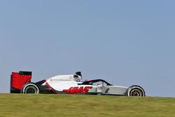 Romain Grosjean, Haas F1 Team VF-16, mit Cockpitschutz Halo