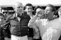 F1 图片 - Race winner Peter Collins, Ferrari Dino 246, secon place Mike Hawthorn, Ferrari Dino 246