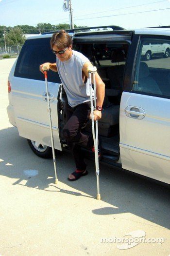 Some help with the crutches