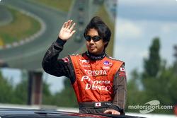 Drivers' parade: Tora Takagi