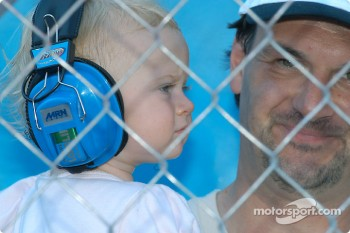 A young racing fan