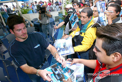 Autograph session for Patrick Carpentier