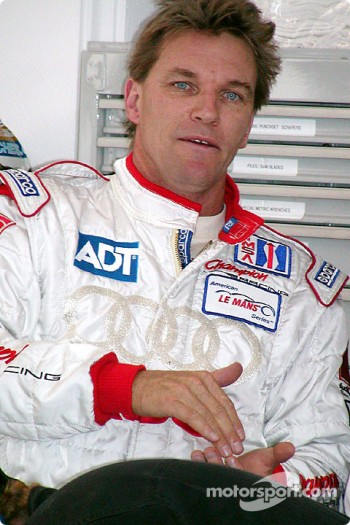 Stefan Johansson gets ready for demonstration laps
