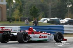 Michel Jourdain Jr. lifts a wheel