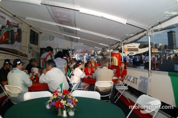 Fernandez Racing hospitality area