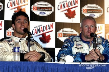 Press conference: Bruno Junqueira and pole winner Paul Tracy