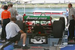 Fernandez Racing car at technical inspection